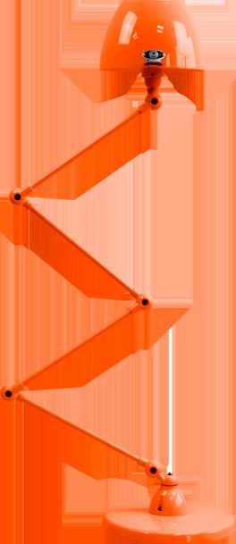 jielde-Aicler-AID433-vloerlamp-oranje-RAL2004-rond