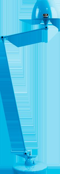 jielde-Aicler-AID833-vloerlamp-lichtblauw-RAL5012-rond