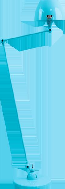 jielde-Aicler-AID833-vloerlamp-pastel-blauw-RAL5024-rond