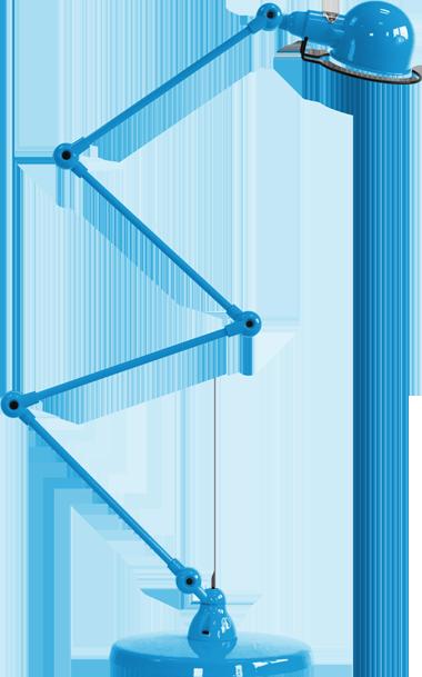 jielde-signal-SI433-vloerlamp-lichtblauw-RAL5012