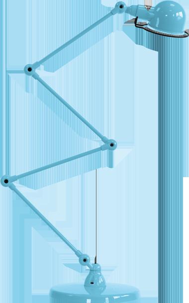 jielde-signal-SI433-vloerlamp-pastel-blauw-RAL5024