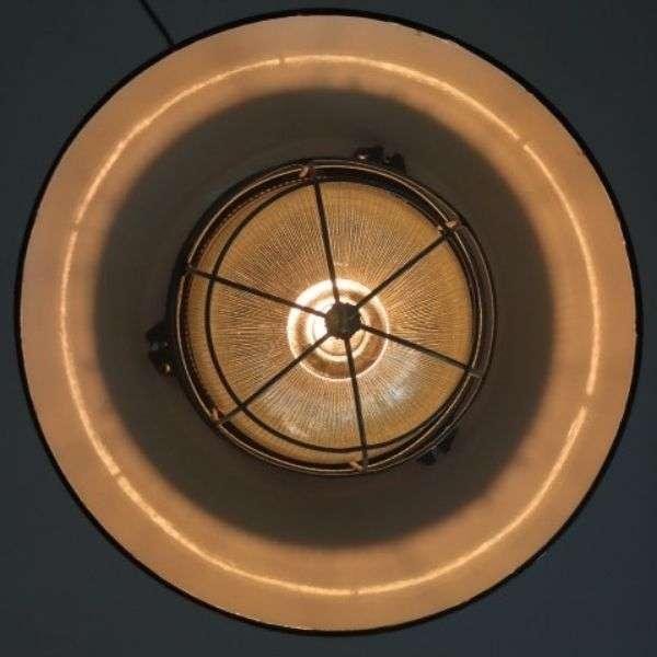 Geemailleerde XL hanglamp groen 02