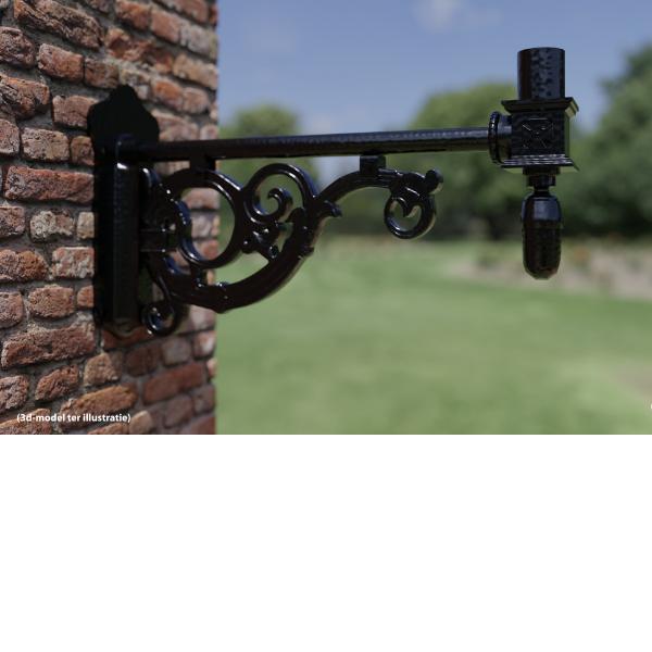 Heusden-muurarm-uithouder-gietijzer-buitenverlichting
