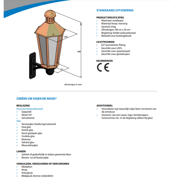ambiance-buitenlamp-specificatie