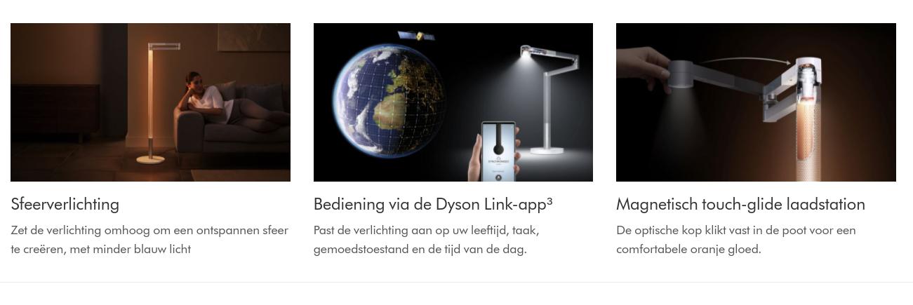 Toepassen van een dyson lightcycle